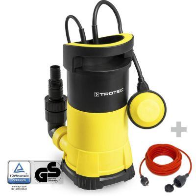 Klarwasser-Tauchpumpe TWP 7505 E + Qualitäts-Verlängerungskabel 15 m / 230 V / 1,5 mm²