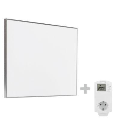 Infrarot-Heizplatte / Infrarotheizung TIH 500 S + Steckdosen-Thermostat BN30