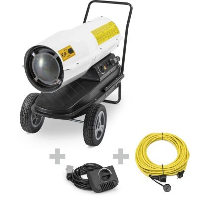 Direkt-Ölheizgebläse IDE 30 D + Profi-Verlängerungskabel + Ext. Thermostat