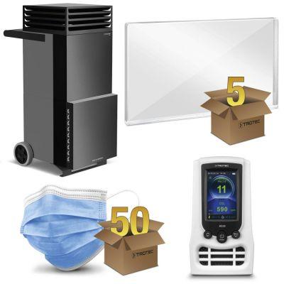Schutzpaket Großraum-Büro mit TAC V+ in basaltgrau/schwarz