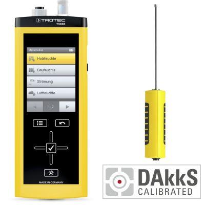 T3000 Multifunktionsmessgerät + TS 131/150 SDI Temperatursensor - Kalibriert nach DAkkS D.2101