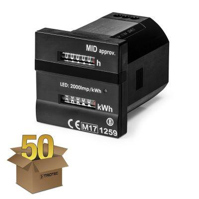Dualzähler - Für Betriebs- und Kilowattstunden MID-konform im 50er Pack