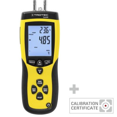 Anemometer TA400 Staurohr inkl. Kalibrier-Zertifikat