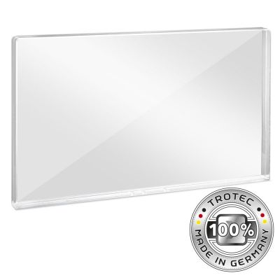 Büro-Schutzwand Acrylglas mit Aerosol-Schutzkante 1158 x 69 x 688