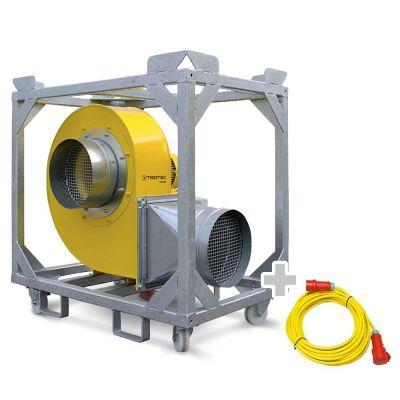 Radialventilator TFV 100 + Profi-Verlängerungskabel 20m / 400 V / 2,5mm²