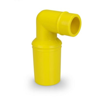 VQuick-Lufteinflut-Winkelstutzen Gummi für 38 mm Schlauch