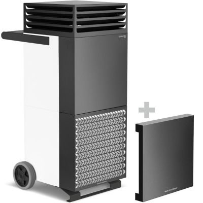 Raumluftreiniger TAC V+ in weiß/schwarz + Schallschutzhaube
