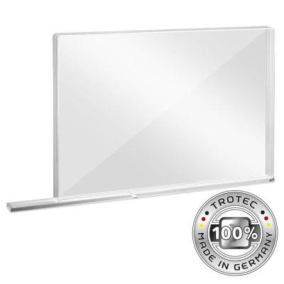 Schul-Schutzwand Acrylglas mit Aerosol-Schutzkante MEDIUM 1007 x 69 x 688