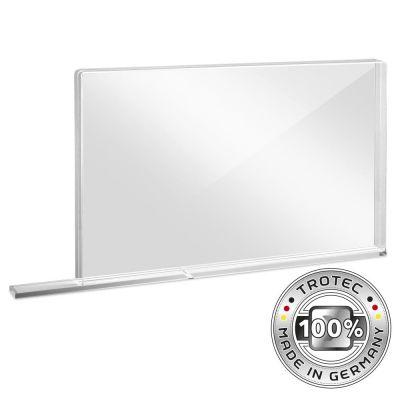 Schul-Schutzwand Acrylglas mit Aerosol-Schutzkante SMALL 800 x 69 X 500