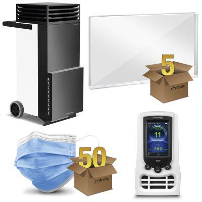 Schutzpaket Großraum-Büro mit TAC V+ in weiß/schwarz