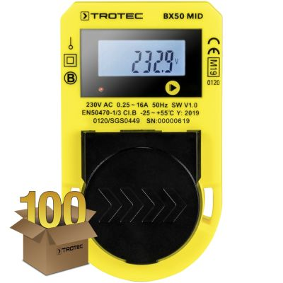 Energieverbrauchsmessgerät BX50 MID, 100er Pack