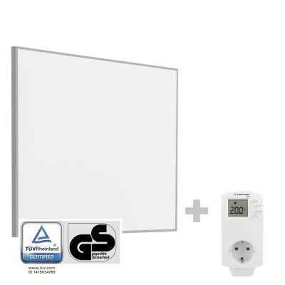 Infrarot-Heizplatte / Infrarotheizung TIH 300 S + Steckdosen-Thermostat BN30