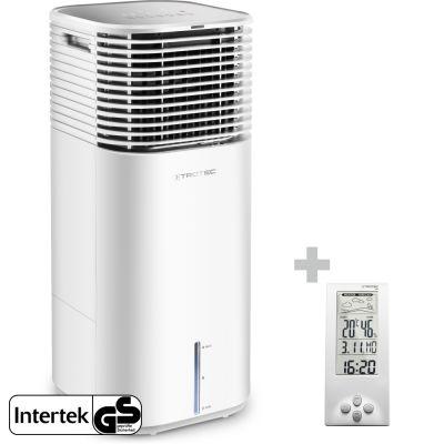 Aircooler, Luftkühler, Luftbefeuchter PAE 49 + Design-Wetterstation BZ06
