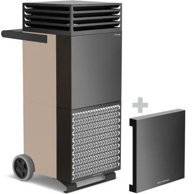 Raumluftreiniger TAC M in bronze/schwarz + Schallschutzhaube