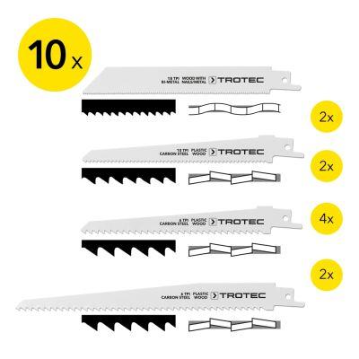Säbelsägeblätter-Set Holz/Metall/Plastik, 10-teilig