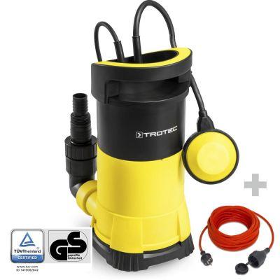 Klarwasser-Tauchpumpe TWP 9005 E + Qualitäts-Verlängerungskabel 15 m / 230 V / 1,5 mm²