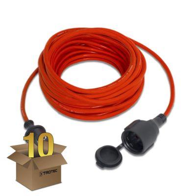 Qualitäts-Verlängerungskabel 15 m / 230 V / 1,5 mm² im 10er Pack