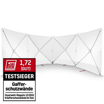 VarioScreen-Sichtschutzwand 4*180*180 Weiß