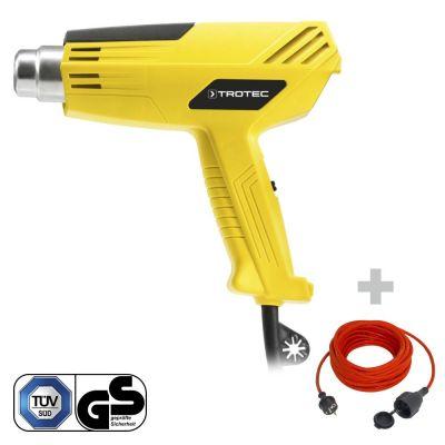 Heißluftpistole HyStream 200 + Qualitäts-Verlängerungskabel 15m / 230 V / 1,5 mm²