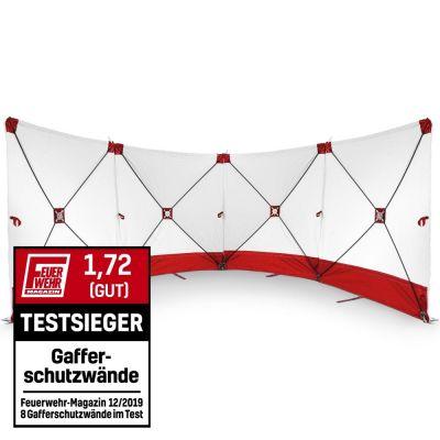 VarioScreen-Sichtschutzwand 4*180*180 Rot
