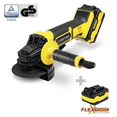 Akku-Winkelschleifer PAGS 20-115 inklusive Zusatz-Multiakku-Flexpower 20V 4,0 Ah