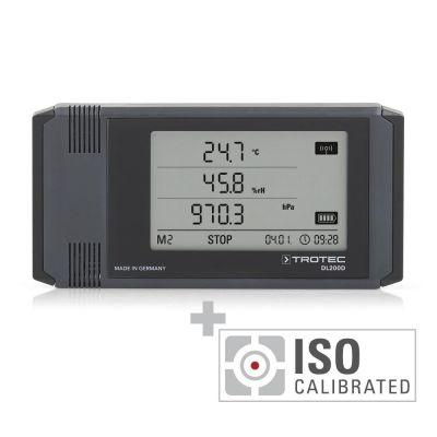 Profi-Datenlogger DL200D anthrazit - Kalibriert nach ISO I.2101
