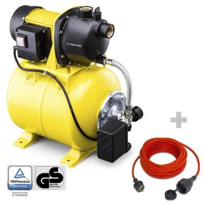Hauswasserwerk TGP 1025 E + Qualitäts-Verlängerungskabel 15m / 230 V / 1,5 mm²