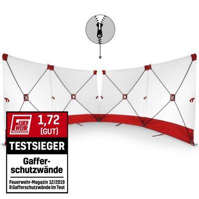 VarioScreen-Sichtschutzwand 4*180*180 mittig teilbar Rot